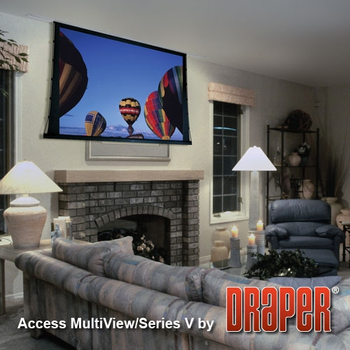 Draper 105004SC Access MultiView/V Motorized Projection Screen 133in