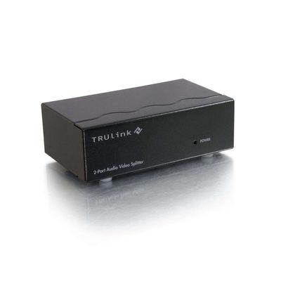 C2G 39967 2-Port UXGA Monitor Splitter/Extender, 3.5mm Audio (Female Input)