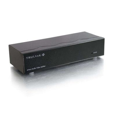 C2G 39968 4-Port UXGA Monitor Splitter/Extender, 3.5mm Audio (Female Input)
