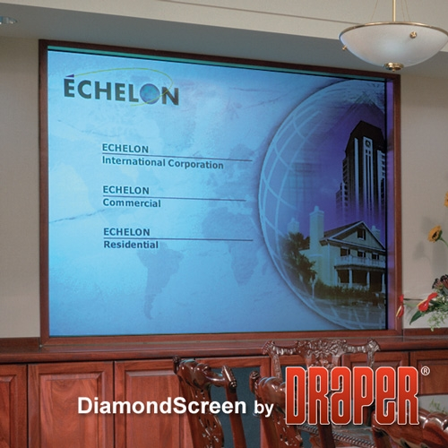 Draper 127171 DiamondScreen Rear Projection Screen 109in