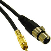 12ft Pro-Audio XLR Female to RCA Male Cable