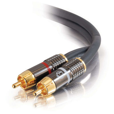 100ft SonicWave(R) Dual Channel RCA Stereo Audio Cable