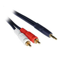 C2G 40615 12ft Velocity 1 3.5mm Stereo Male to 2 RCA Stereo Male Y-Cable