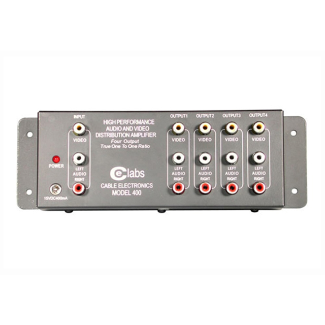 C2G 41066 4-Output RCA Audio/Video Distribution Amplifier