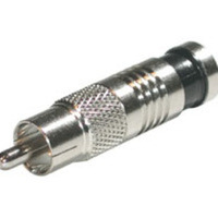 C2G 41121 RG6 Compression RCA Connector - 50pk