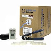 500ft Cat6 UTP 250 MHz Stranded PVC Cable Installation Kit - Blue