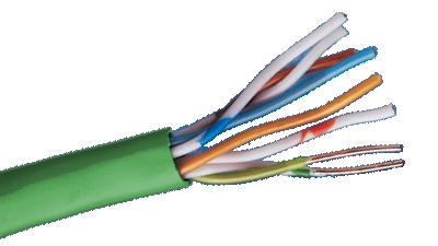 Liberty 24-4P-L5-EN-GRN-BX CAT5E 350MHz 24AWG 4 Pair Cable, Green