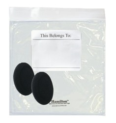 Hamilton 5076 Replacement Ear Cushions & Resealable Bag for HA2 & HA2V