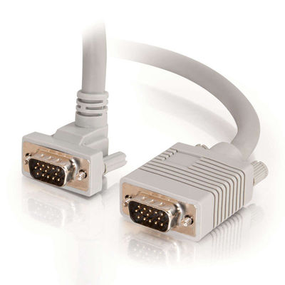 C2G 52010 10ft Shielded VGA M/F Monitor Cable, Up-Angled M Connector