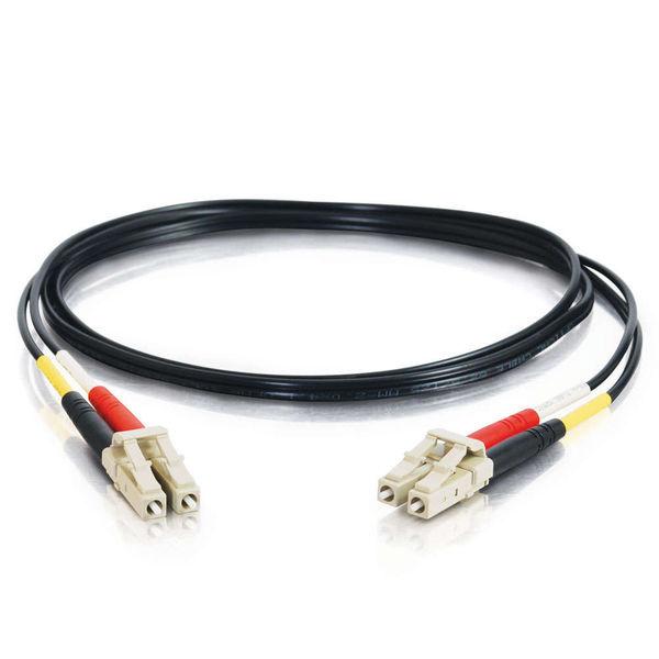 C2G 10m LC-LC 62.5/125 OM1 Duplex Multimode Fiber Optic Cable - Black