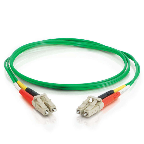 C2G 10m LC-LC 62.5/125 OM1 Duplex Multimode Fiber Optic Cable - Green