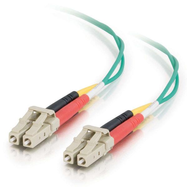 C2G 10m LC-LC 62.5/125 OM1 Duplex Multimode Fiber Cable - Green (Plenum)