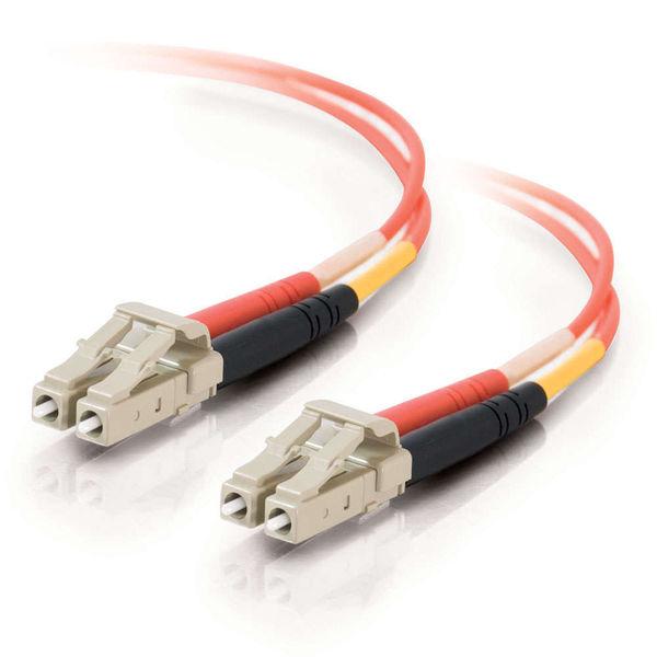 C2G 10m LC-LC 50/125 OM2 Duplex Multimode Fiber Optic Cable - Orange (Plenum)