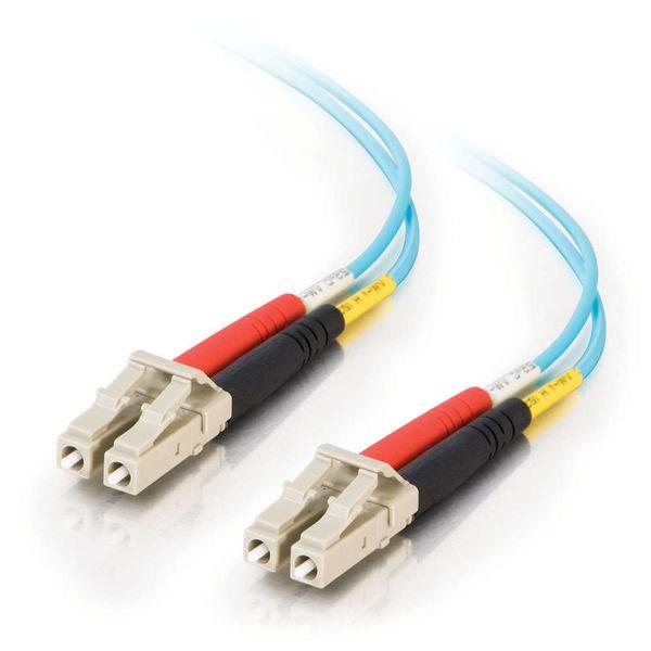 C2G 10m LC-LC 10Gb 50/125 OM3 Duplex Multimode Fiber Cable - Aqua (TAA)