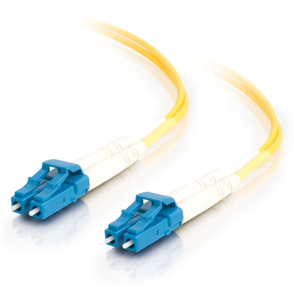 C2G 10m LC-LC 9/125 OS1 Duplex Single-Mode Fiber Optic Cable - Yellow (TAA)