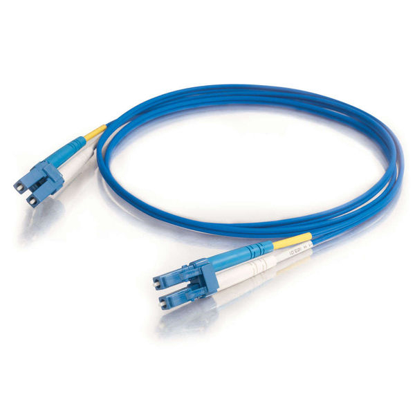 C2G 33369 10m LC-LC 9/125 OS1 Duplex Single-Mode PVC Fiber Optic Cable - Blue