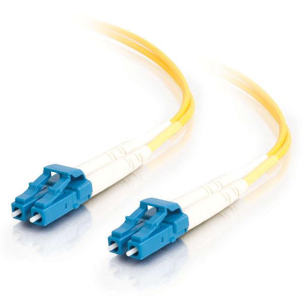 C2G 10m LC-LC 9/125 OS1 Duplex Single-Mode Fiber Optic Cable - LSHZ - Yellow