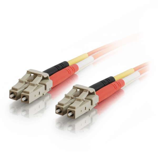 C2G 10m LC-LC 50/125 OM2 Duplex Multimode Fiber Optic Cable - Orange