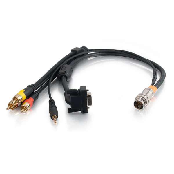 C2G 1.5ft RapidRun 90deg. VGA + 3.5mm + Composite Video + Stereo Flying Lead