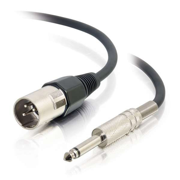 C2G 40036 12ft Pro-Audio XLR Male to 1/4in Male Cable
