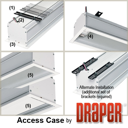 Draper 103007 Access Case for Projection Screen 1351/4in