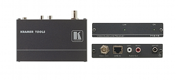 Kramer 718-05 Composite Video & Stereo Audio over Twisted Pair Receiver, 500m