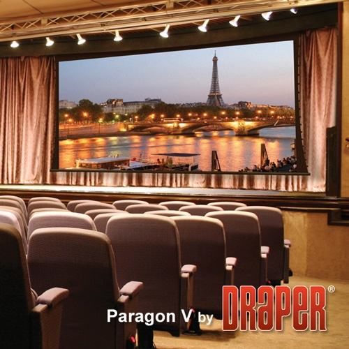 Draper 114609SD Paragon/V Motorized Projection Screen 25ft