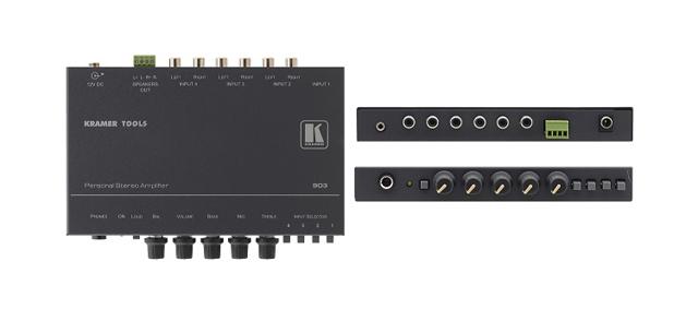 Kramer 903 4x1 Personal Stereo Audio Amplifier & Switcher (10W per Channel)