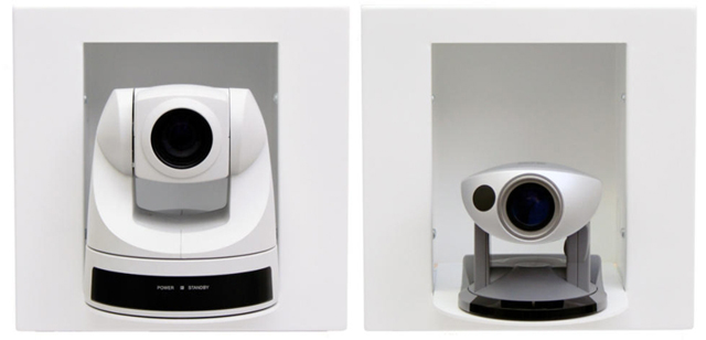 In-wall Camera Enclosure for Sony EVI-D70 and Canon VC-C50i