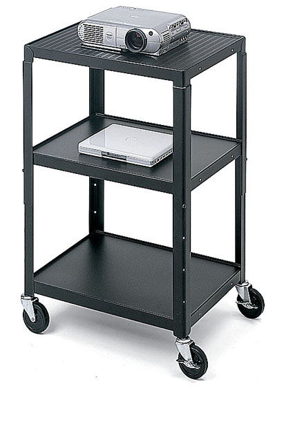 Bretford A2642 AV Cart Adj, 4in. Caster, Black