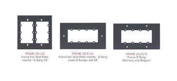 Kramer FRAME-2G Frame for Wall Plate Inserts - 2 Gang