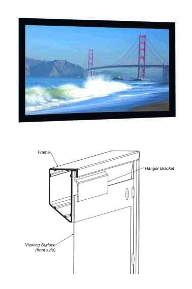 Da-Lite 87095V 72in. Cinema Contour Projector Screen