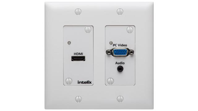 HDMI/VGA Auto-Switching Wallplate with HDBaseT Output