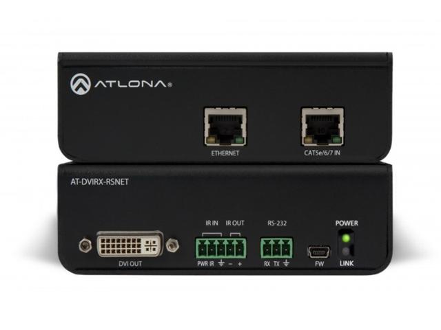 Atlona AT-DVIRX-RSNET HDBaseT RX DVI Box with Ethernet, RS-232 and IR
