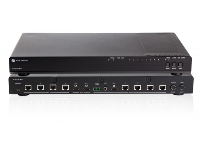 Atlona AT-HDCAT-8ED 2x8 HDBaseT HDMI Distribution Amp