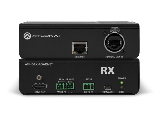 Atlona AT-HDRX-ROADNET HDBaseT RX HDMI Rental/Staging Box w/etherCON, Ethernet, RS-232, and IR