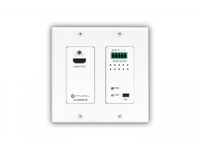 Atlona AT-HDWP-IR 2-Gang US Decora Wall Plate with IR