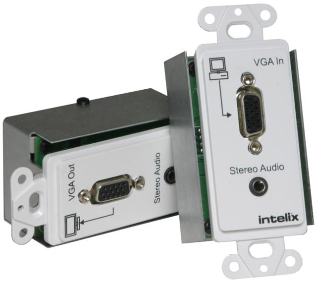 Intelix Passive VGA & Analog Stereo Audio Wall Plate Balun Transmitter