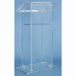 AmpliVox Sound Systems SN3075 Traditional Acrylic Pulpit Lectern (Clear)
