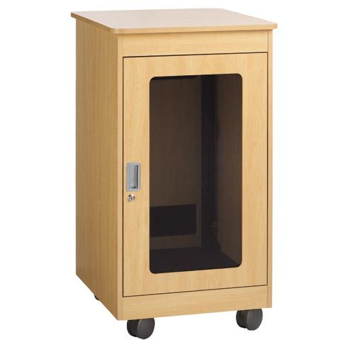 Универсальный разборный монтажный шкаф с габаритами 314х520х300 мм (6u) и прозрачной (укрепленное стекло)