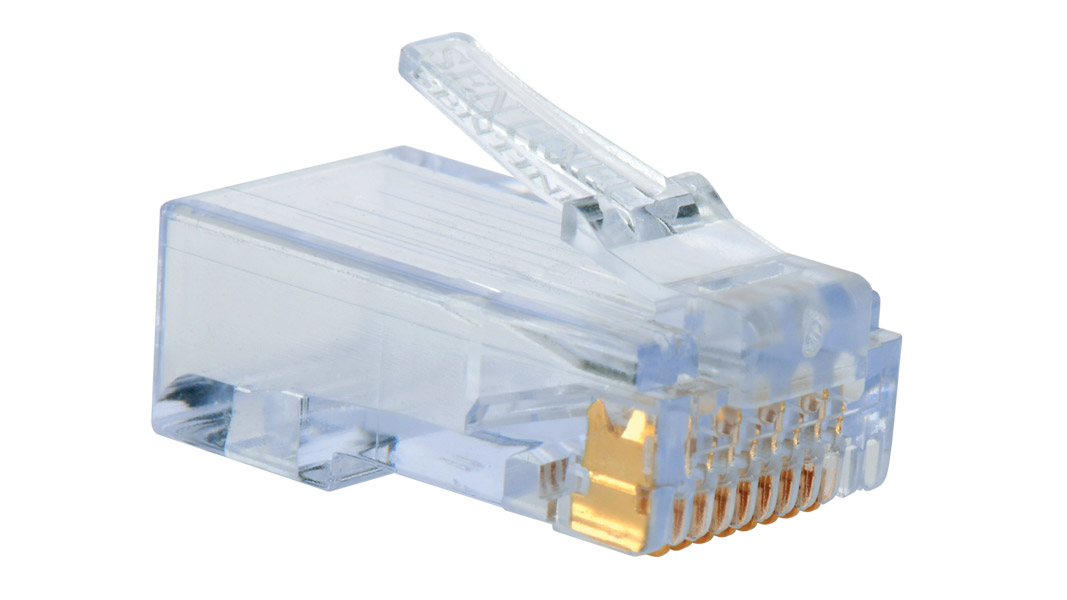 Liberty 11108080034 8P8C CAT6 RJ45 Modular Plug, Clear