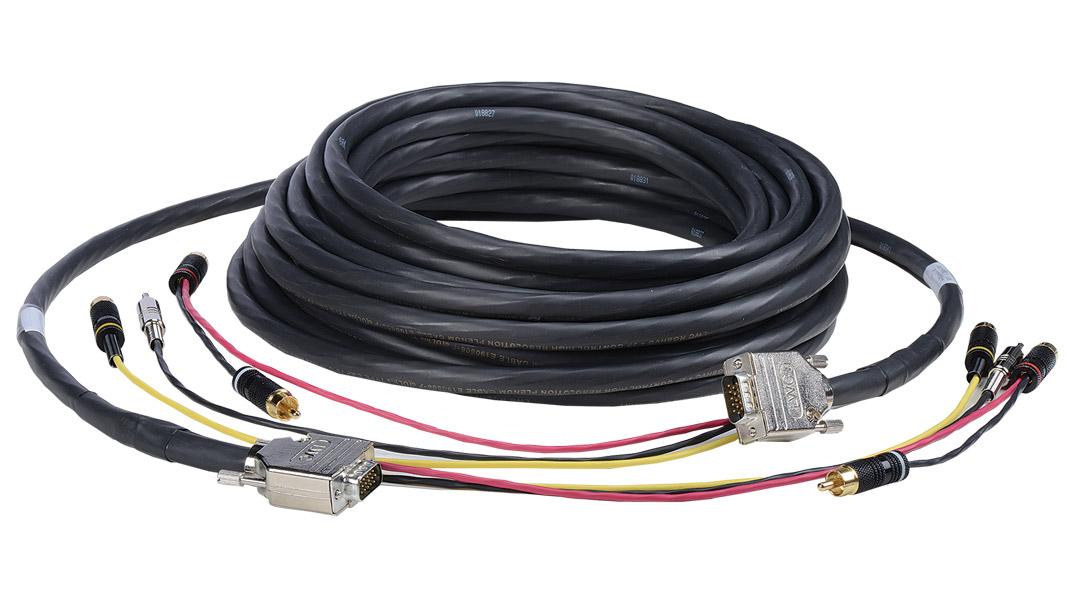 Liberty G-2V2A-B1-50 50ft VGA, 3RCA, 3.5 Plenum Audio Video Cable, Black