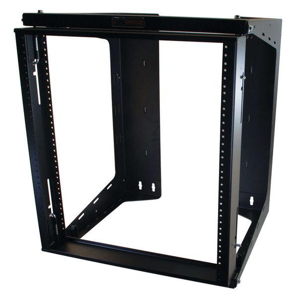 C2G 16128 APW 12u x 18in Swing Out Wallmount Rack - Black