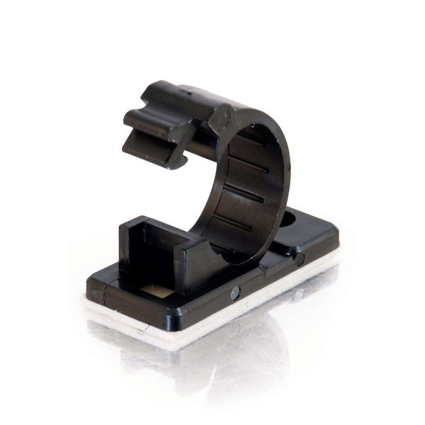 C2G 43052 .5in Self-Adhesive Cable Clamp - 50pk