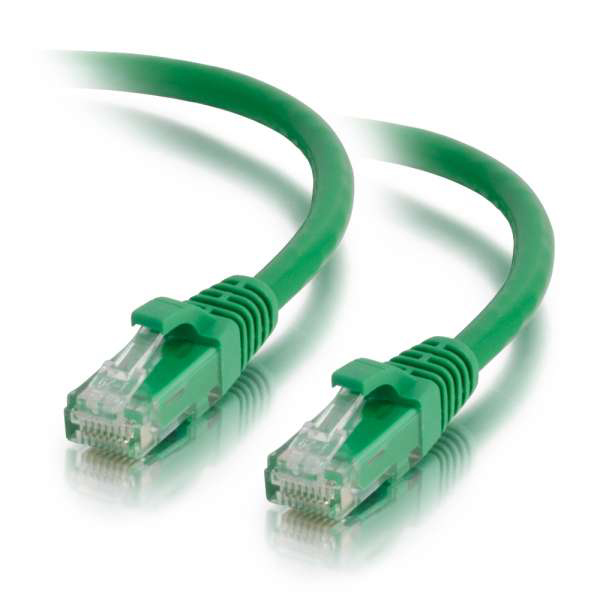 C2G 100ft Cat5e Snagless Unshielded Ethernet Network Cable - Green