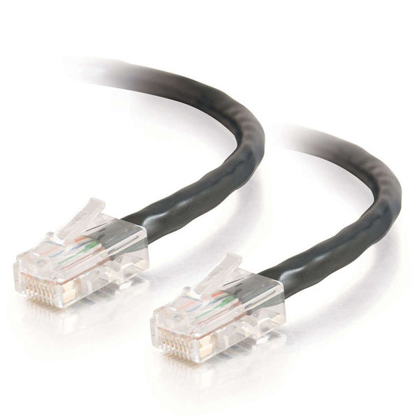 C2G 10ft Cat5e Non-Booted Unshielded Network Crossover Cable - Black