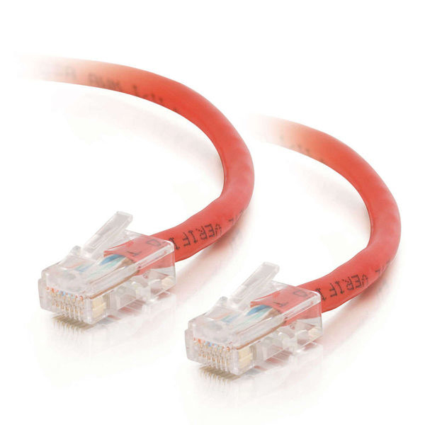 C2G 10ft Cat5e Non-Booted Unshielded Network Crossover Cable - Red