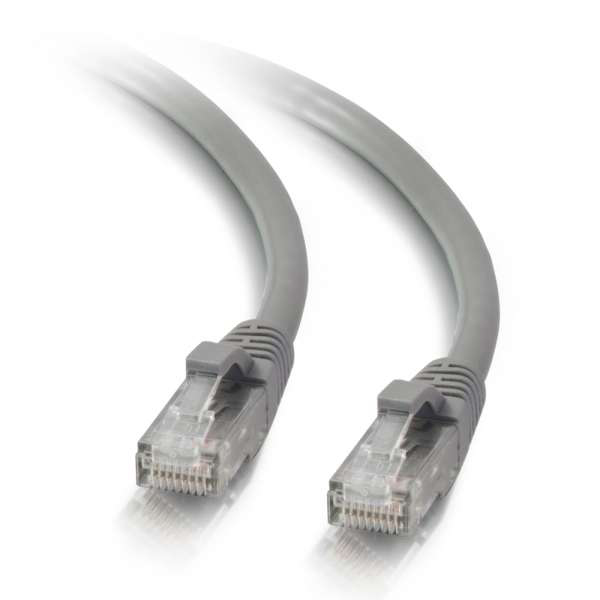 C2G 10ft Cat5e Snagless Unshielded Ethernet Network Cable - Gray (UTP)
