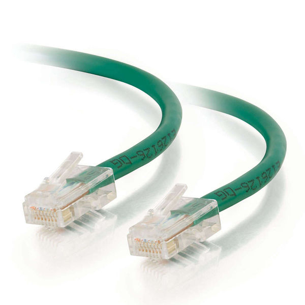 C2G 100ft Cat5e Non-Booted Unshielded Ethernet Network Cable - Green