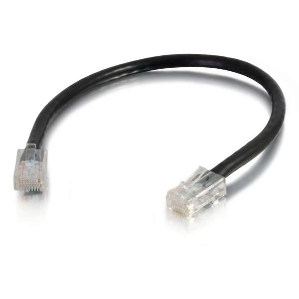 C2G 10ft Cat5e Non-Booted Unshielded Ethernet Network Cable - Black (UTP)